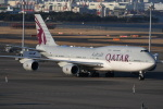 シュウさんが、羽田空港で撮影したカタールアミリフライト 747-8KB BBJの航空フォト(飛行機 写真・画像)