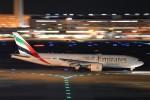 B747‐400さんが、羽田空港で撮影したエミレーツ航空 777-21H/LRの航空フォト(写真)