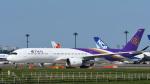 パンダさんが、成田国際空港で撮影したタイ国際航空 A350-941XWBの航空フォト(写真)