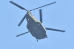500さんが、自宅上空で撮影した陸上自衛隊 CH-47JAの航空フォト(写真)