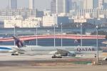 たーぼーさんが、羽田空港で撮影したカタール航空 777-3DZ/ERの航空フォト(写真)