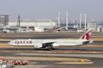 ハム太郎。さんが、羽田空港で撮影したカタール航空 777-3DZ/ERの航空フォト(写真)