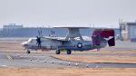 ららぞうさんが、岩国空港で撮影したアメリカ海軍 E-2D Advanced Hawkeyeの航空フォト(写真)