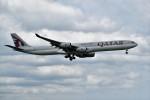 こじゆきさんが、スワンナプーム国際空港で撮影したカタール航空 A340-642Xの航空フォト(写真)