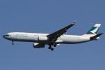 camelliaさんが、成田国際空港で撮影したキャセイパシフィック航空 A330-343Xの航空フォト(写真)