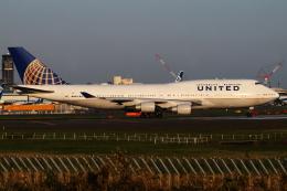 Hide.Oさんが、成田国際空港で撮影したユナイテッド航空 747-422の航空フォト(飛行機 写真・画像)