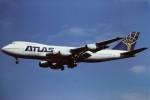 tassさんが、成田国際空港で撮影したアトラス航空 747-230B(SF)の航空フォト(写真)