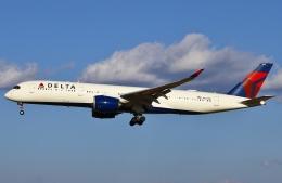 あしゅーさんが、成田国際空港で撮影したデルタ航空 A350-941XWBの航空フォト(写真)