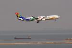 tsubameさんが、香港国際空港で撮影した南アフリカ航空 A340-313Xの航空フォト(写真)