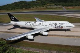 naruga201さんが、プーケット国際空港で撮影したタイ国際航空 747-4D7の航空フォト(写真)