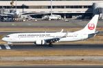 セブンさんが、羽田空港で撮影した日本トランスオーシャン航空 737-8Q3の航空フォト(飛行機 写真・画像)