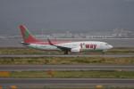 kuro2059さんが、関西国際空港で撮影したティーウェイ航空 737-86Jの航空フォト(写真)