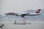 こじゆきさんが、香港国際空港で撮影したスイスインターナショナルエアラインズ 777-3DE/ERの航空フォト(写真)
