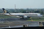 ★azusa★さんが、スカルノハッタ国際空港で撮影したシンガポール航空 A350-941XWBの航空フォト(写真)