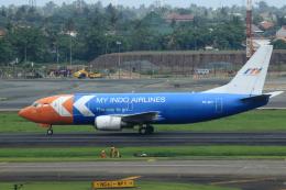 ★azusa★さんが、スカルノハッタ国際空港で撮影したマイ・インド・エアラインズ 737-3Z0(SF)の航空フォト(飛行機 写真・画像)