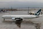 ハピネスさんが、中部国際空港で撮影したキャセイパシフィック航空 777-367の航空フォト(飛行機 写真・画像)