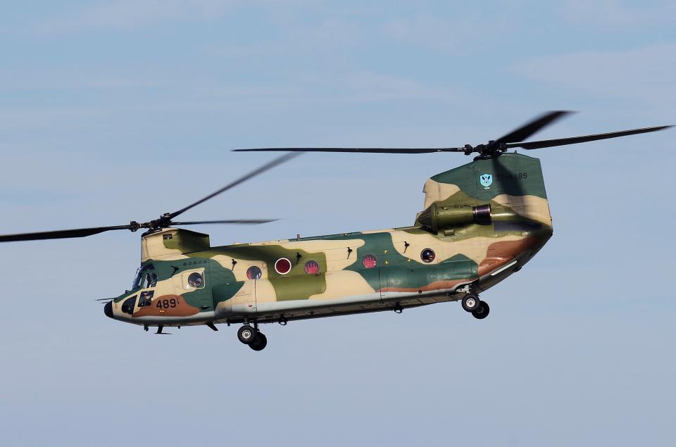 yabyanさんの航空自衛隊 Kawasaki CH-47J Chinook (37-4489) 航空フォト