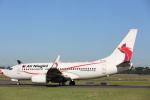 安芸あすかさんが、シドニー国際空港で撮影したニューギニア航空 737-7L9の航空フォト(写真)