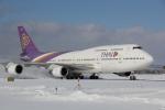 幹ポタさんが、新千歳空港で撮影したタイ国際航空 747-4D7の航空フォト(写真)