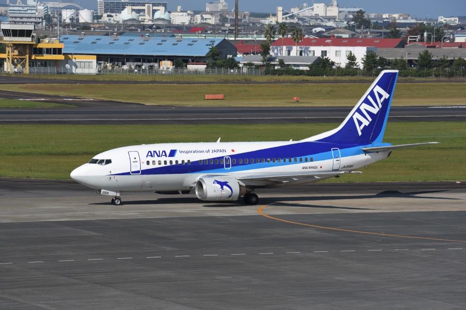 kumagorouさんのANAウイングス Boeing 737-500 (JA356K) 航空フォト