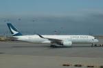 pringlesさんが、香港国際空港で撮影したキャセイパシフィック航空 A350-941XWBの航空フォト(写真)