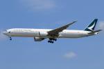 ★azusa★さんが、シンガポール・チャンギ国際空港で撮影したキャセイパシフィック航空 777-367/ERの航空フォト(写真)