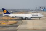 徳兵衛さんが、関西国際空港で撮影したルフトハンザドイツ航空 747-430の航空フォト(写真)