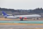 @たかひろさんが、成田国際空港で撮影したスカンジナビア航空 A340-313Xの航空フォト(写真)