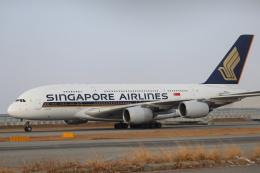 水月さんが、関西国際空港で撮影したシンガポール航空 A380-841の航空フォト(写真)