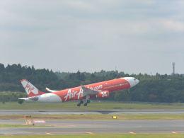 ナナオさんが、成田国際空港で撮影したインドネシア・エアアジア・エックス A330-343Xの航空フォト(飛行機 写真・画像)