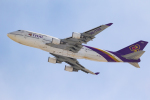 岡崎美合さんが、新千歳空港で撮影したタイ国際航空 747-4D7の航空フォト(写真)
