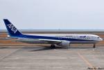 れんしさんが、山口宇部空港で撮影した全日空 767-381の航空フォト(写真)