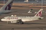 B747‐400さんが、羽田空港で撮影したカタールアミリフライト A319-133X CJの航空フォト(写真)