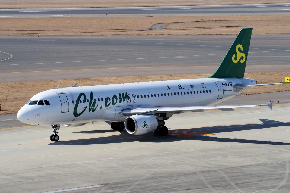 yabyanさんの春秋航空 Airbus A320 (B-6752) 航空フォト