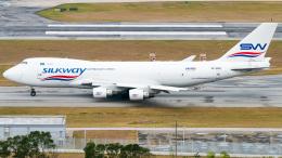 pinama9873さんが、香港国際空港で撮影したシルクウェイ・ウェスト・エアラインズ 747-4H6F/SCDの航空フォト(飛行機 写真・画像)