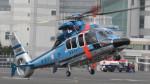 Ocean-Lightさんが、東京ヘリポートで撮影した警視庁 EC155B1の航空フォト(写真)