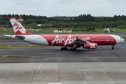 kan787allさんが、成田国際空港で撮影したインドネシア・エアアジア・エックス A330-343Xの航空フォト(飛行機 写真・画像)