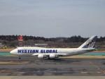 KAZFLYERさんが、成田国際空港で撮影したウエスタン・グローバル・エアラインズ 747-446(BCF)の航空フォト(飛行機 写真・画像)