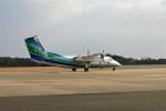 乗り物大好きライター・ヨッシーさんが、対馬空港で撮影したオリエンタルエアブリッジ DHC-8-201Q Dash 8の航空フォト(写真)