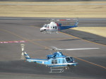ランチパッドさんが、名古屋飛行場で撮影した愛知県警察 412EPの航空フォト(写真)