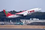 mojioさんが、成田国際空港で撮影したティーウェイ航空 737-8Q8の航空フォト(写真)