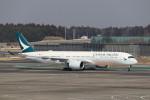 utarou on NRTさんが、成田国際空港で撮影したキャセイパシフィック航空 A350-941XWBの航空フォト(写真)