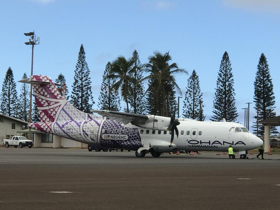 gratiii738さんのオハナ・バイ・ハワイアン ATR 42 (N806HC) 航空フォト