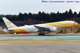 いおりさんが、成田国際空港で撮影したノックスクート 777-212/ERの航空フォト(写真)