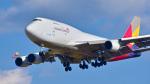 パンダさんが、成田国際空港で撮影したアシアナ航空 747-48EM(BDSF)の航空フォト(写真)