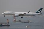 ぽんさんが、香港国際空港で撮影したキャセイパシフィック航空 A350-941XWBの航空フォト(写真)