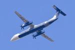 パンダさんが、成田国際空港で撮影したオーロラ DHC-8-402Q Dash 8の航空フォト(写真)