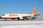 セブンさんが、新千歳空港で撮影したチェジュ航空 737-8ASの航空フォト(飛行機 写真・画像)
