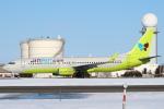 セブンさんが、新千歳空港で撮影したジンエアー 737-8SHの航空フォト(飛行機 写真・画像)