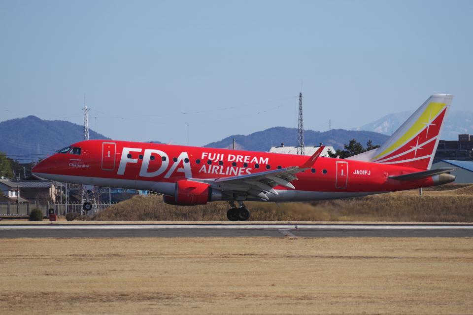 yabyanさんのフジドリームエアラインズ Embraer ERJ-170 (JA01FJ) 航空フォト